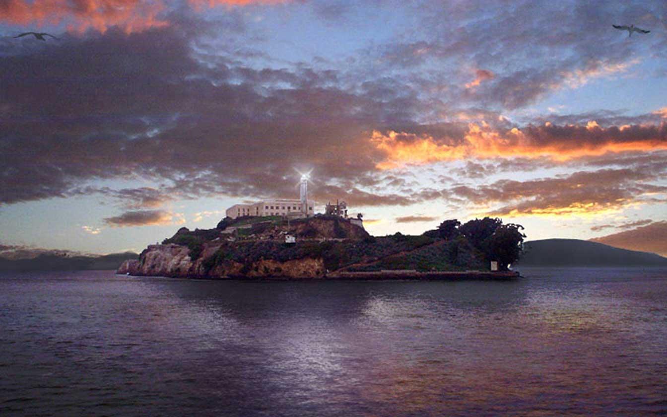 Alcatraz prison island