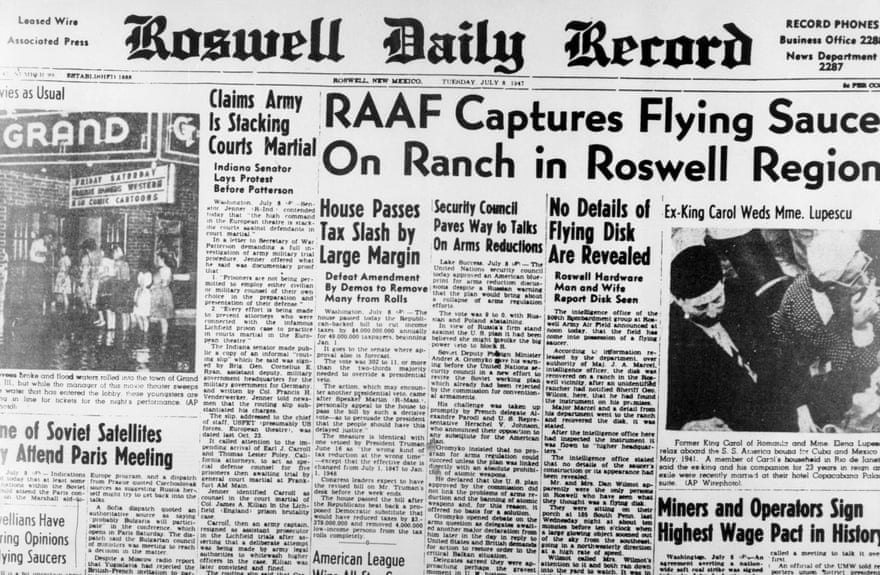 Newspaper from few Days after Roswell Incident.