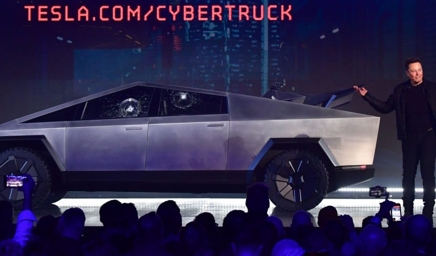 Elon Musk, CEO of Tesla unveils Cyber Truck
