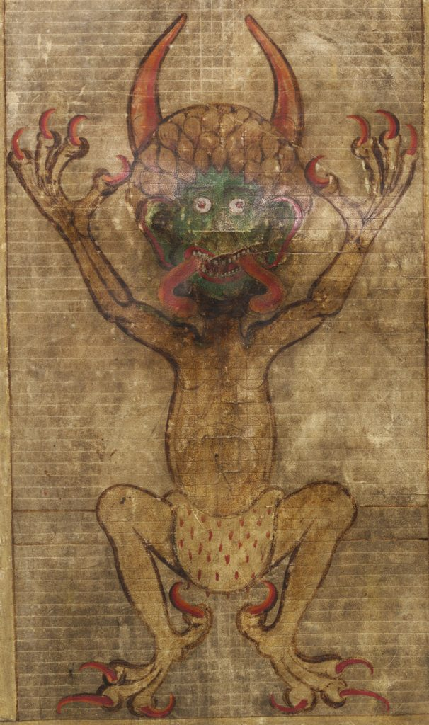 Codex Gigas: Portrait of the Devil himself
