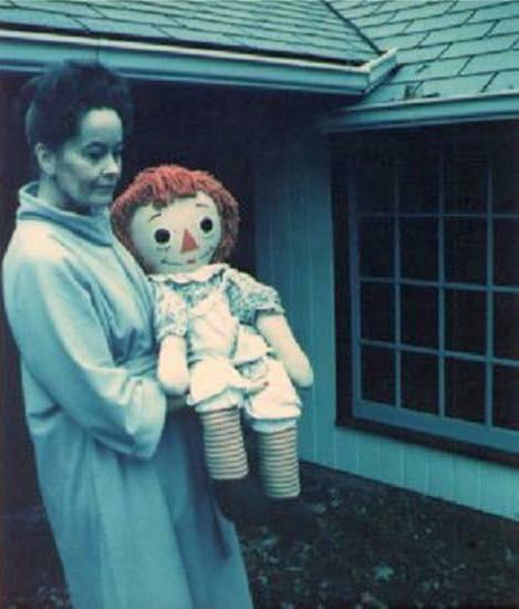 Lorraine Warren with Annabelle Doll