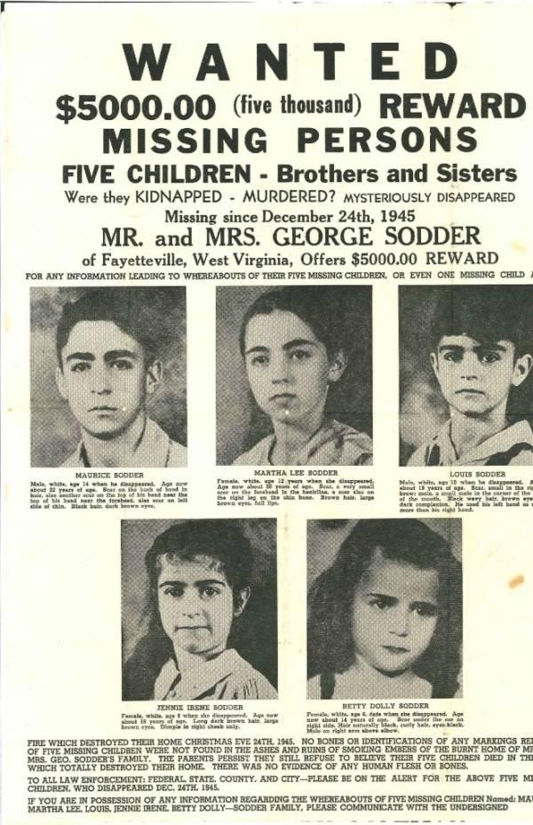 Postcard for missing Sodder Children