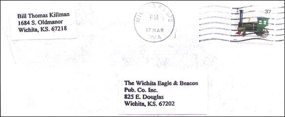 covers of the letter sent to BTK killer to police