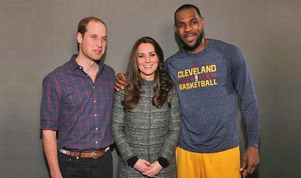 LeBron James touching Kate, LeBron was not aware of the protocol that the Royal Family follows.