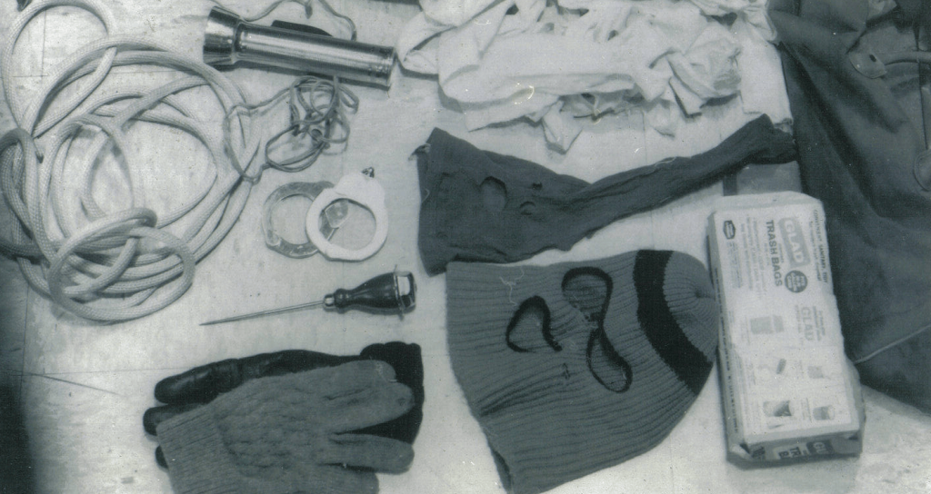 Murder kit found in Ted Bundy's car
