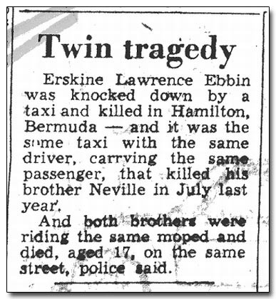 Bermuda Twin Tragedy