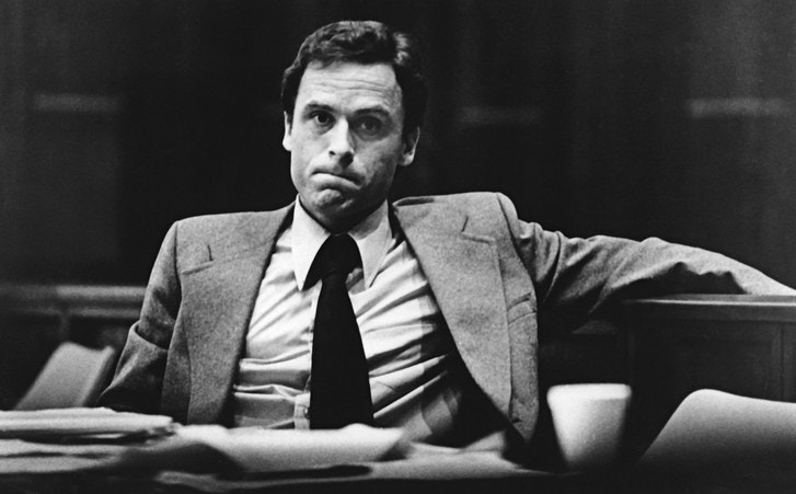 TED BUNDY DURING HIS TRIALS PHOTOGRAPH BY AP