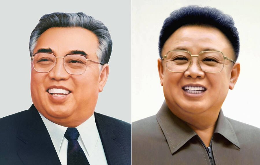 Portraits of Kim Li Sung and Kim Jong il