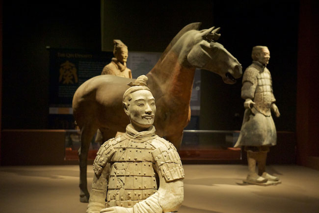 Terracotta horse and warrior group of Terracotta Army