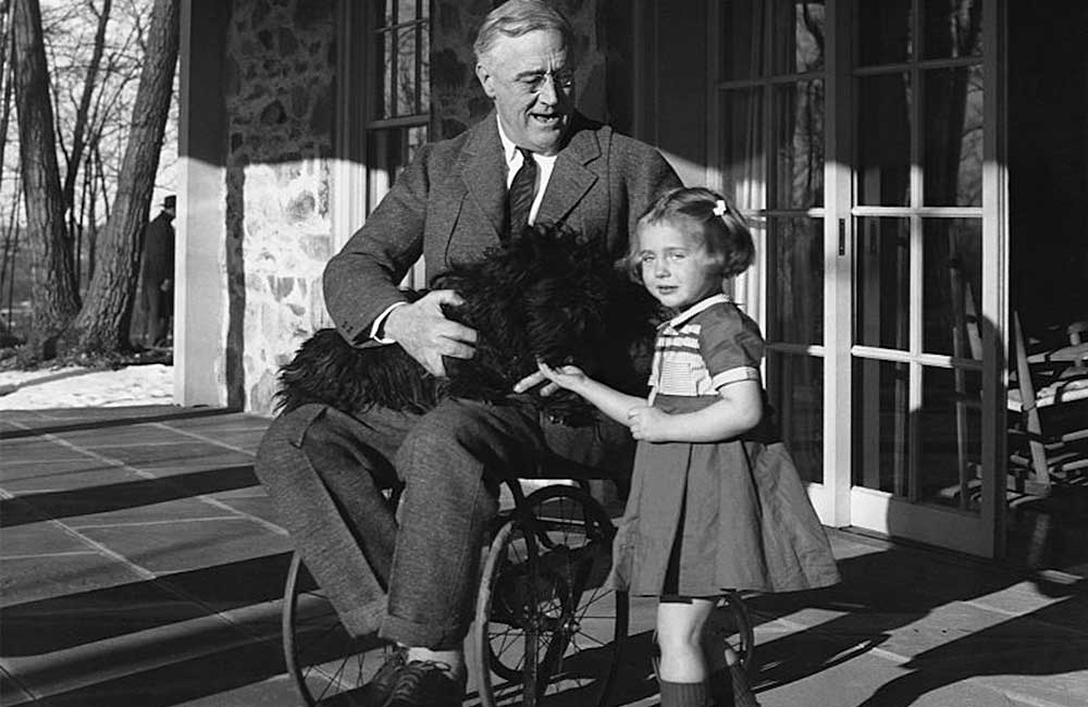 Rare Photograph of Roosevelt in a Wheelchair