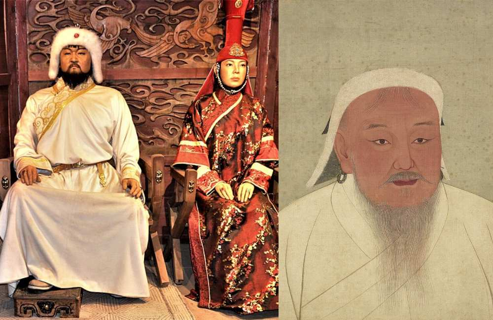 Wax Sculptures and Original portrayal of Genghis Khan
