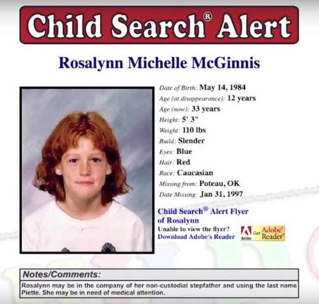 Rosalynn McGinnis search alert