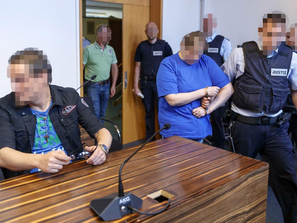 Christian Lais, left, and Berrin Taha, admitted to their crimes in court in Freiburg