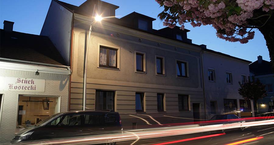 Fritzl House at night