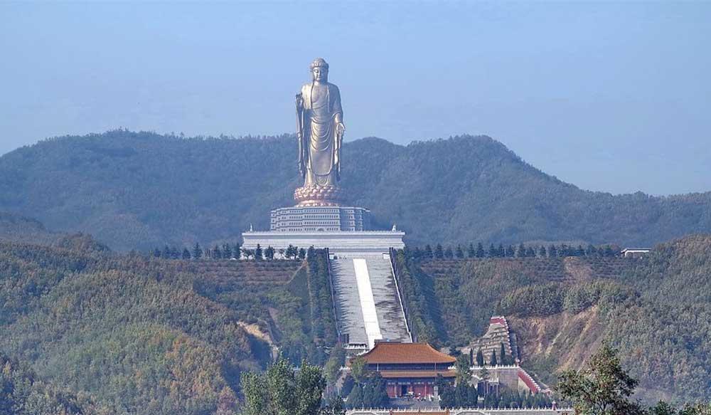 Spring Temple Buddha Statue