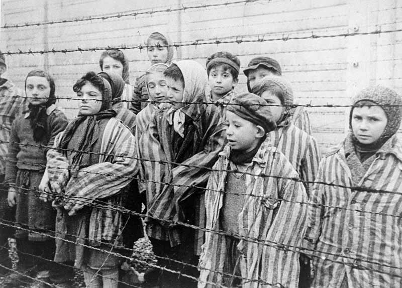 Jewish twins kept alive in Auschwitz for use in Mengele's medical experiments. The Red Army liberated these children in January 1945