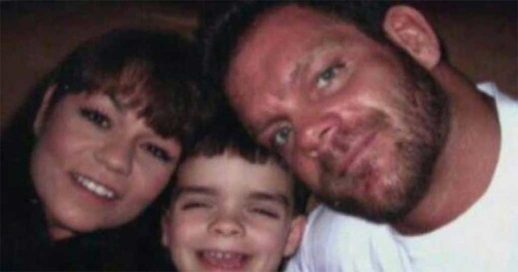 Chris Benoit with his family