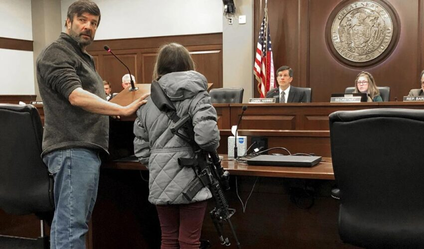11-Year-Old Girl Supports Gun Freedom Bill By Carrying Loaded AR-15 Into Statehouse