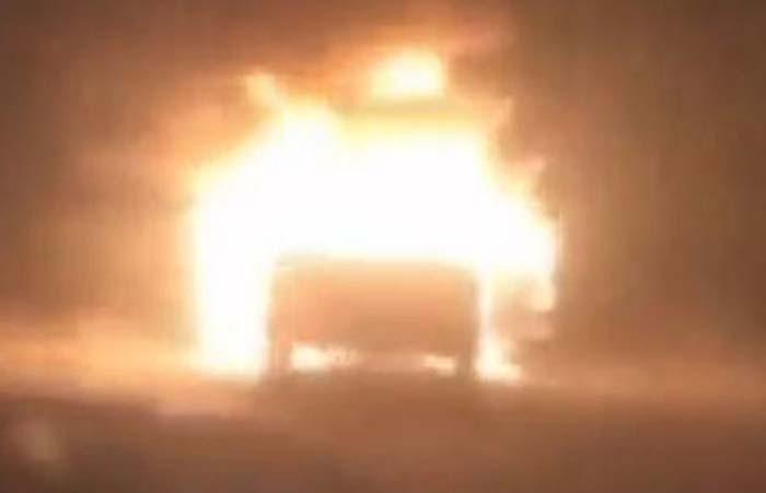Scott's car was found on fire