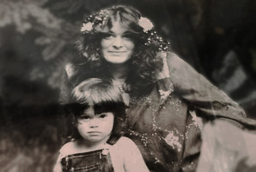 Dorothy Jane Scott and her 4 year old son Shawn