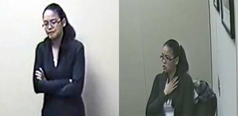 Jennifer Pan during interrogation.