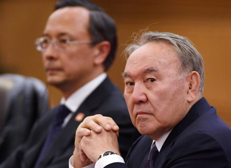 Kazakh President Nursultan Nazarbayev in Beijing on June 7, 2018.