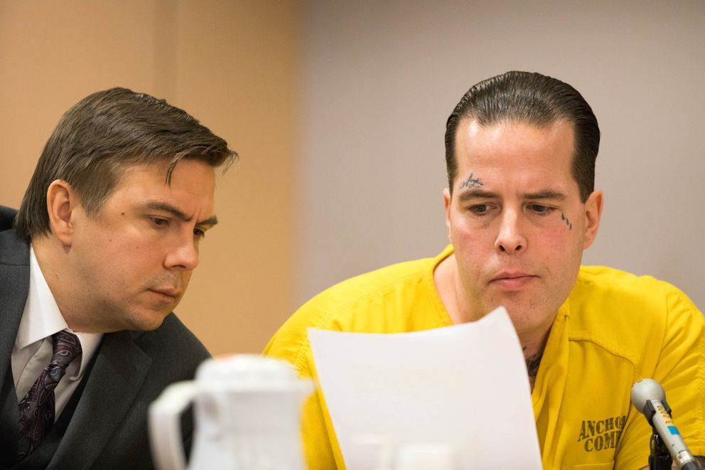Jason Vukovich and his lawyer Ember Tilton during his sentencing Friday,