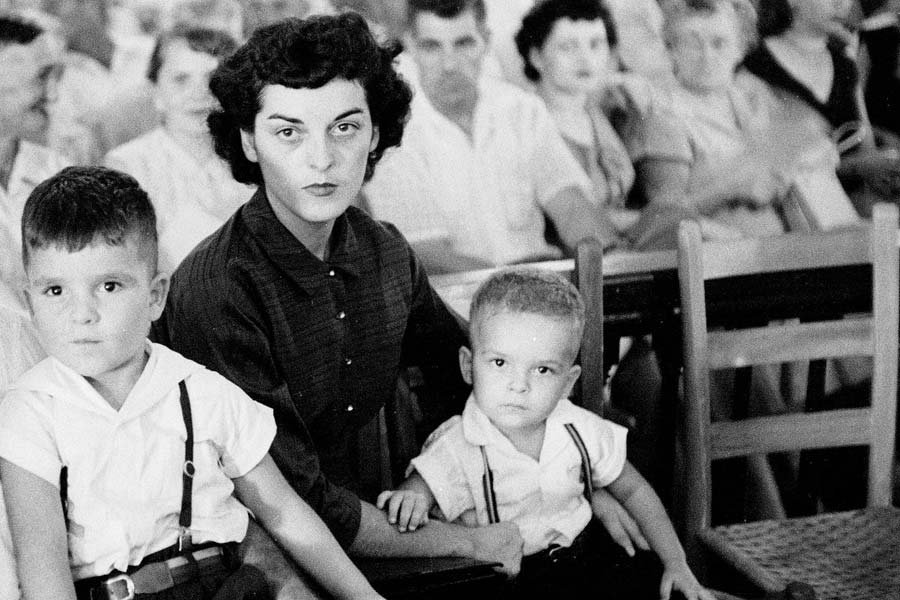 Carolyn Bryant with her children