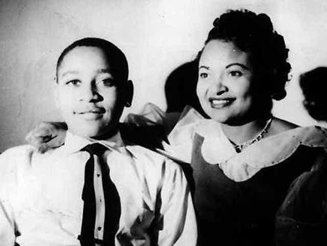 Emmett Till with his mother, Mamie Till Mobley