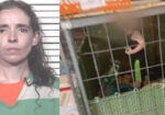 toddler found inside cage with animals