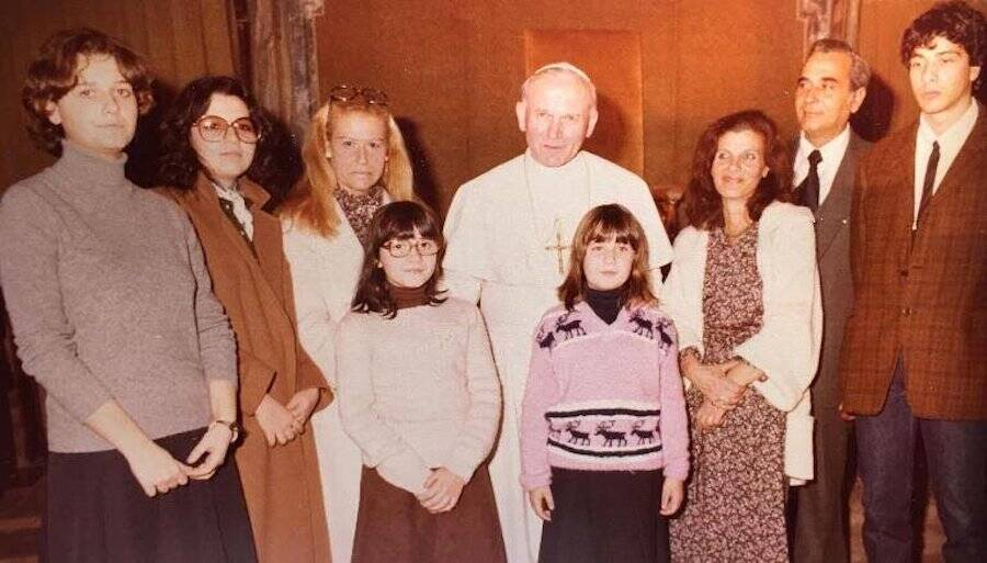 Emanuel Orlandi with Pope Francis