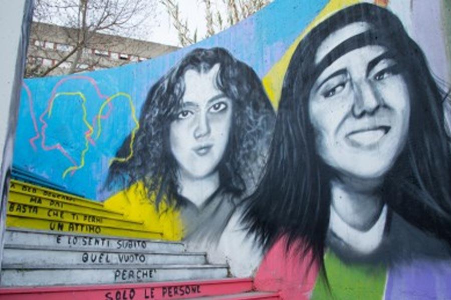 Mural of Mirella Gregori and Enamuela Orlandi