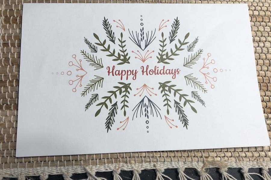 Happy Holidays gift cards from Michael Esmond