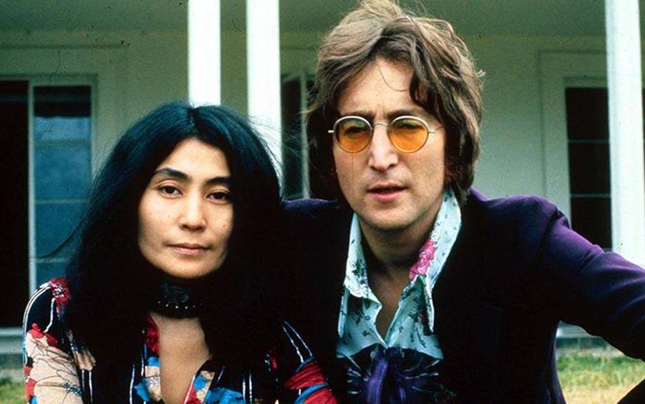 John Lennon with his wife Yoko Ono