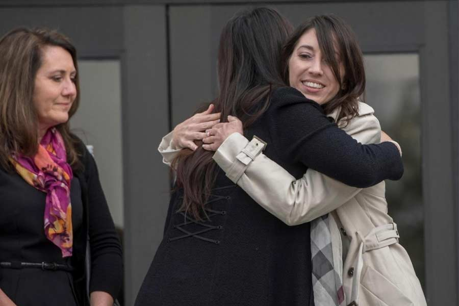 Michelle Hadley after being freed from prison