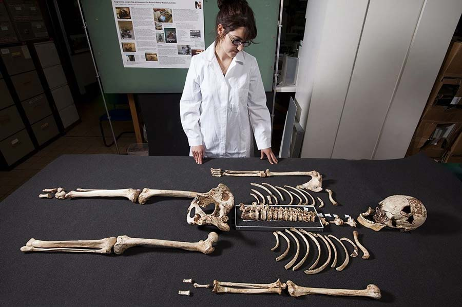 The oldest nearly complete modern human skeleton ever found in Britain
