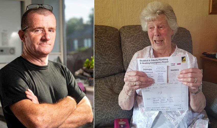 Hero Plumber Fixed Boiler of a 91-Year-Old Terminally ill Woman and Billed Her £0; She's Only 1 of 10,000 He Helped