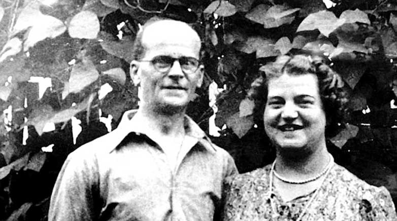 Christie with his wife Ethel