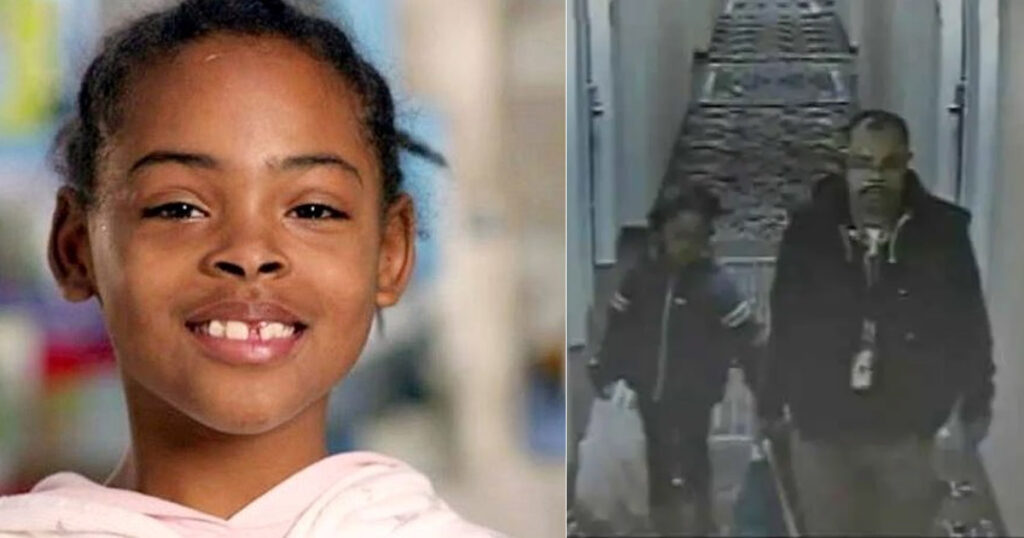 Relisha Rudd and her alleged captor on right.